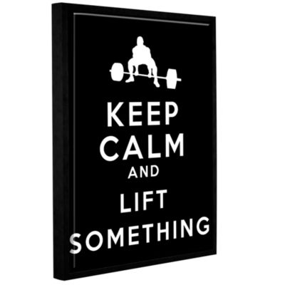 Brushstone Keep Calm And Lift Something Gallery Wrapped Floater-Framed Canvas Wall Art