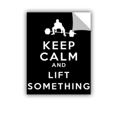 Brushstone Keep Calm And Lift Something RemovableWall Decal