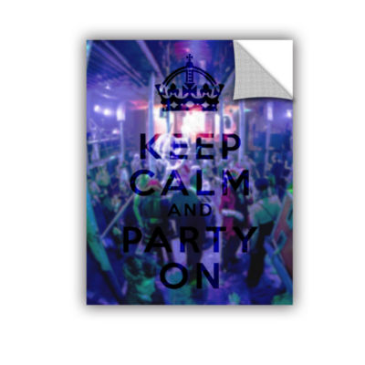 Brushstone Keep Calm And Party On Removable Wall Decal
