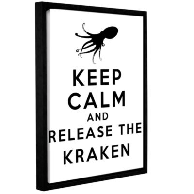 Brushstone Keep Calm And Release The Kraken Gallery Wrapped Floater-Framed Canvas Wall Art