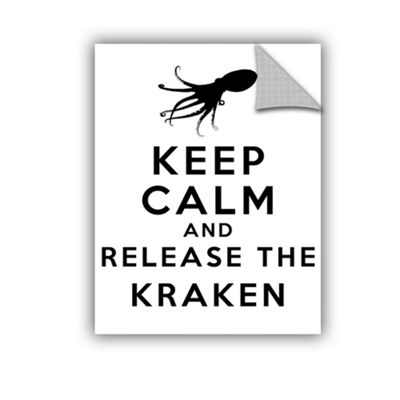 Brushstone Keep Calm And Release The Kraken Removable Wall Decal
