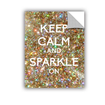 Brushstone Keep Calm And Sparkle On Removable WallDecal
