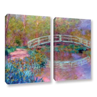 Brushstone Japanese Bridge 2-pc. Gallery Wrapped Canvas Set
