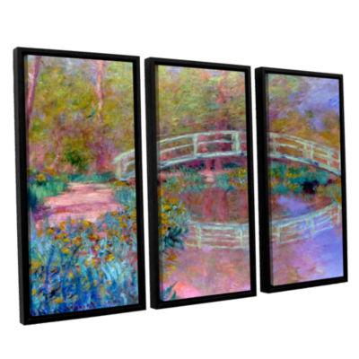 Brushstone Japanese Bridge 3-pc. Floater Framed Canvas Wall Art