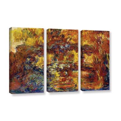 Brushstone Japanese Fottbridge 3-pc. Gallery Wrapped Canvas Wall Art