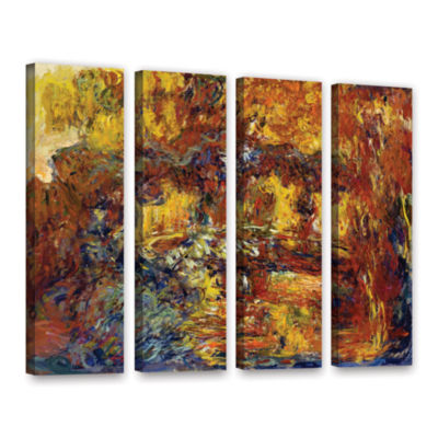 Brushstone Japanese Fottbridge 4-pc. Gallery Wrapped Canvas Set