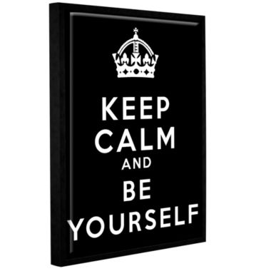 Brushstone Keep Calm And Be Yourself Gallery Wrapped Floater-Framed Canvas Wall Art