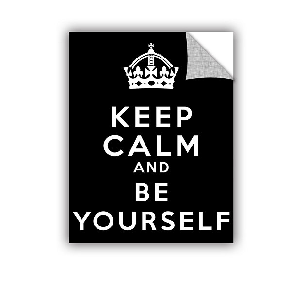 Brushstone Keep Calm And Be Yourself Removable Wall Decal