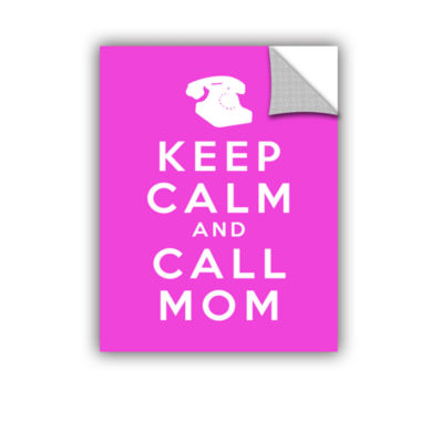 Brushstone Keep Calm And Call Mom Removable Wall Decal