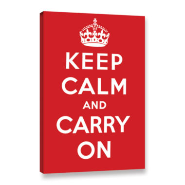 Brushstone Keep Calm And Carry On Gallery WrappedCanvas Wall Art