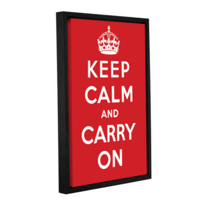 Brushstone Keep Calm And Carry On Gallery WrappedFloater-Framed Canvas Wall Art