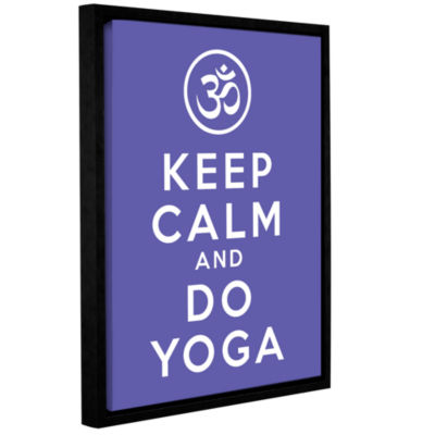 Brushstone Keep Calm And Do Yoga Gallery Wrapped Floater-Framed Canvas Wall Art