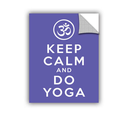 Brushstone Keep Calm And Do Yoga Removable Wall Decal