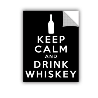 Brushstone Keep Calm And Drink Whiskey (Black) Removable Wall Decal