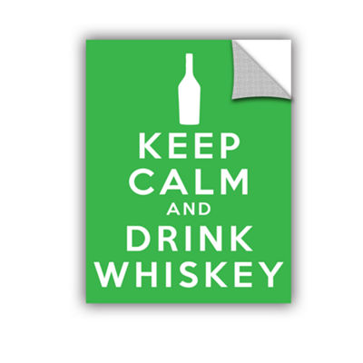 Brushstone Keep Calm And Drink Whiskey (Green) Removable Wall Decal