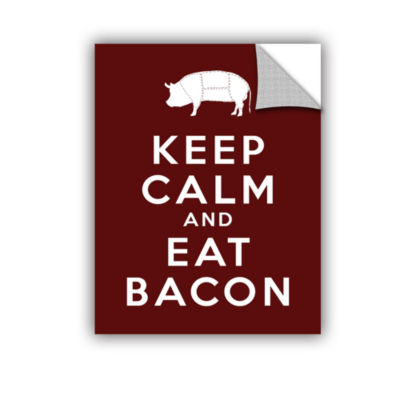 Brushstone Keep Calm And Eat Bacon Removable WallDecal