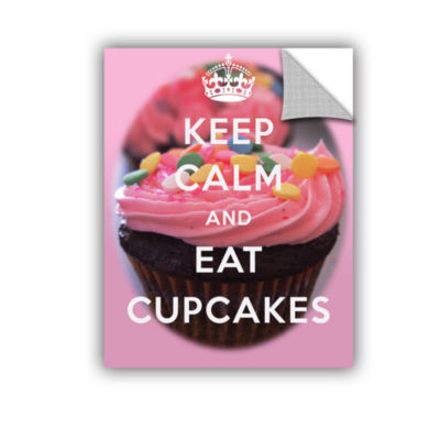 Brushstone Keep Calm And Eat Cupcakes Removable Wall Decal