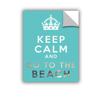 Brushstone Keep Calm And Go To The Beach RemovableWall Decal