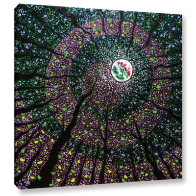 Brushstone Night Enchanted Gallery Wrapped CanvasWall Art