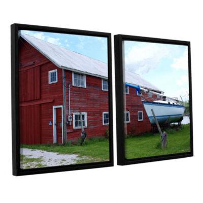 Brushstone No Parking 2-pc. Floater Framed CanvasWall Art