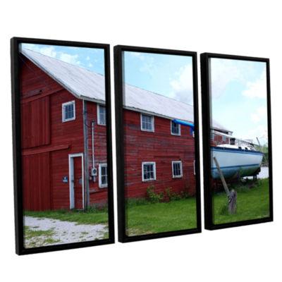 Brushstone No Parking 3-pc. Floater Framed CanvasWall Art