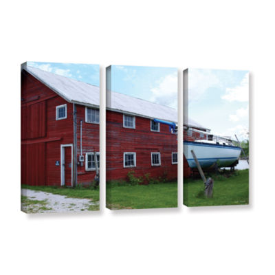 Brushstone No Parking 3-pc. Gallery Wrapped CanvasWall Art
