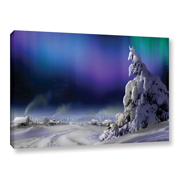 Brushstone Northern Lights Gallery Wrapped CanvasWall Art