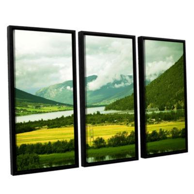 Brushstone Norway 3-pc. Floater Framed Canvas WallArt