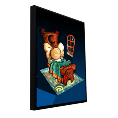 Brushstone Kid In Bed 1 Gallery Wrapped Floater-Framed Canvas Wall Art