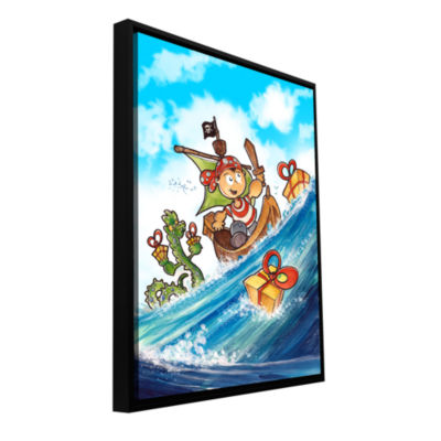 Brushstone Kid Pirate Gallery Wrapped Floater-Framed Canvas Wall Art