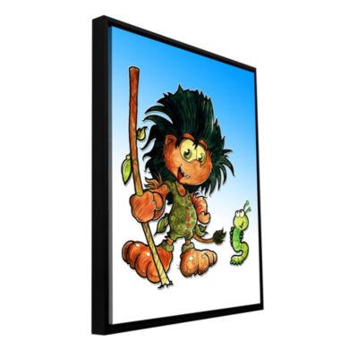 Brushstone Kid Troll Gallery Wrapped Floater-Framed Canvas Wall Art