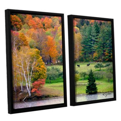 Brushstone Killington Vermont 2-pc. Floater FramedCanvas Wall Art