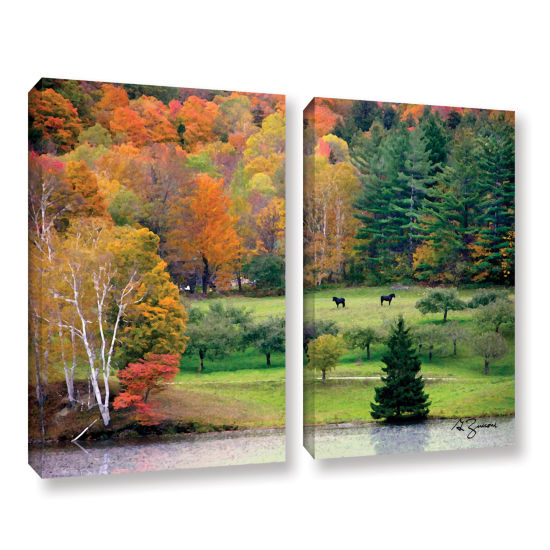 Brushstone Killington Vermont 2-pc. Gallery Wrapped Canvas Wall Art