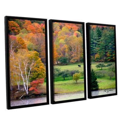 Brushstone Killington Vermont 3-pc. Floater FramedCanvas Wall Art
