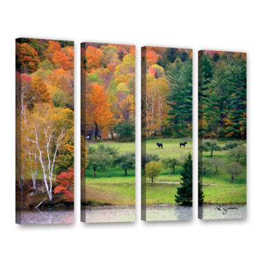 Brushstone Killington Vermont 4-pc. Gallery Wrapped Canvas Wall Art