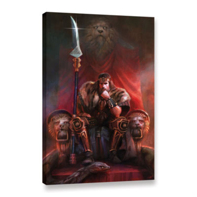 Brushstone King By His Own Hand Gallery Wrapped Canvas Wall Art