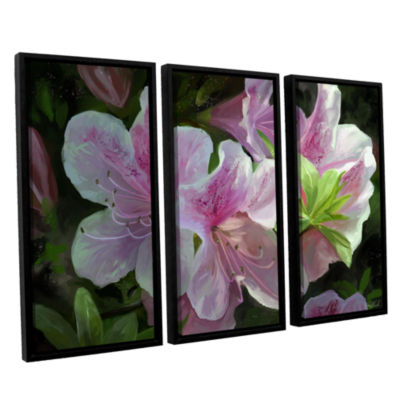 Brushstone Kissed By Sunlight 3-pc. Floater FramedCanvas Wall Art