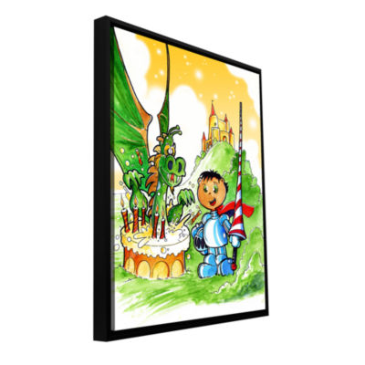 Brushstone Knight Kid Gallery Wrapped Floater-Framed Canvas Wall Art