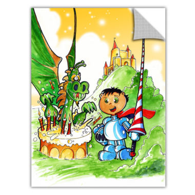 Brushstone Knight Kid Removable Wall Decal