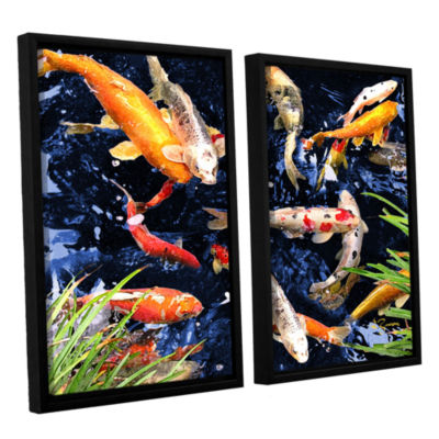 Brushstone Koi 2-pc. Floater Framed Canvas Wall Art
