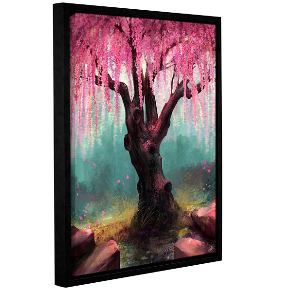 Brushstone Ode To Spring Gallery Wrapped Floater-Framed Canvas Wall Art