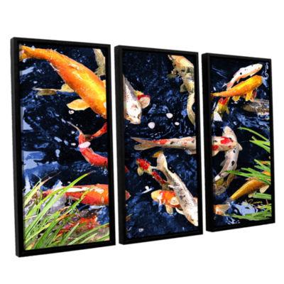 Brushstone Koi 3-pc. Floater Framed Canvas Wall Art