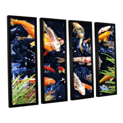 Brushstone Koi 4-pc. Floater Framed Canvas Wall Art
