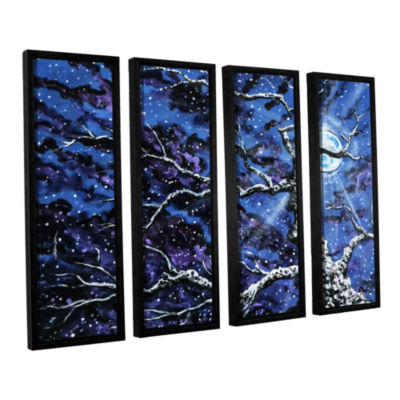 Brushstone Odyssey 4-pc. Floater Framed Canvas Wall Art