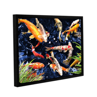 Brushstone Koi Gallery Wrapped Floater-Framed Canvas Wall Art