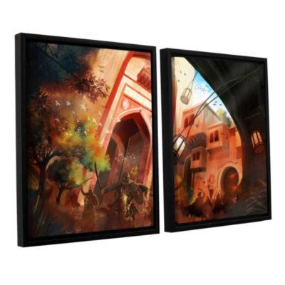 Brushstone Old Times 1 2-pc. Floater Framed CanvasWall Art