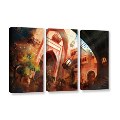 Brushstone Old Times 1 3-pc. Gallery Wrapped Canvas Wall Art