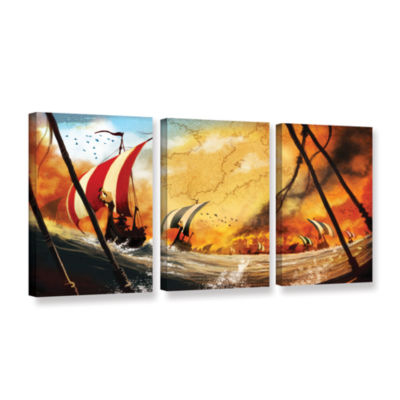 Brushstone Old Times 2 3-pc. Gallery Wrapped Canvas Wall Art