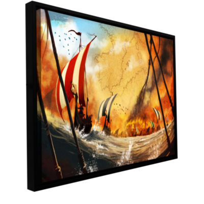 Brushstone Old Times 2 Gallery Wrapped Floater-Framed Canvas Wall Art