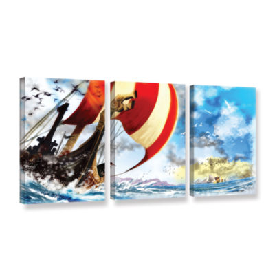 Brushstone Old Times 3 3-pc. Gallery Wrapped Canvas Wall Art